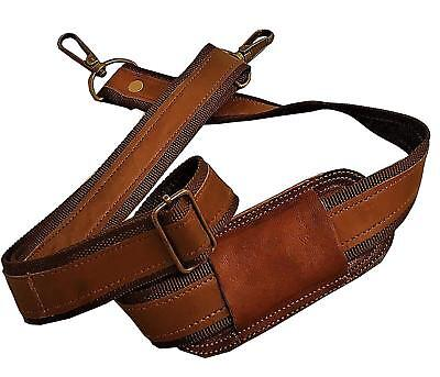 Genuine Leather Replacement Shoulder Strap for Briefcase Luggage Messenger Bag