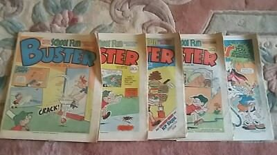 Vintage Retro 1984 5 x 5 Buster School of Fun Section Comics Rare