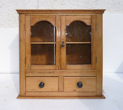 Victorian Small Pine Double door Kitchen Cabinet
