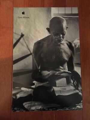 Vintage Apple Think Different Poster 11 x 17 Mahatma Ghandi