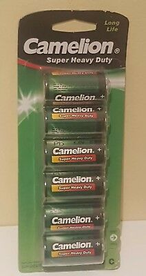 Camelion 10100214 R14 C Baby Super Heavy Duty Battery (Pack of 6) OCT 2019