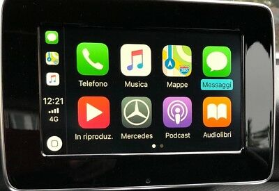 attivazione apple carplay android auto mercedes