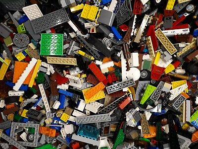 Lego 1kg Assorted Bricks, Parts and Pieces - Starter Set. Bulk Genuine Clean Toy