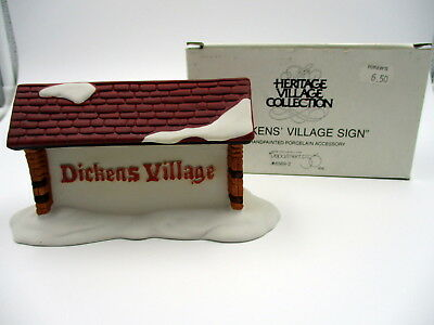 "Vintage Dept 56 Heritage Village ""Dickens Village Sign"" 6569-2"