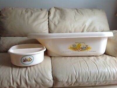 Mothercare Baby Bath / Wash Bowl Winnie The Pooh Classic Cream