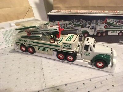 NIB* 2002 Hess Toy Truck, Airplane Collectible Motorized with Real Lights