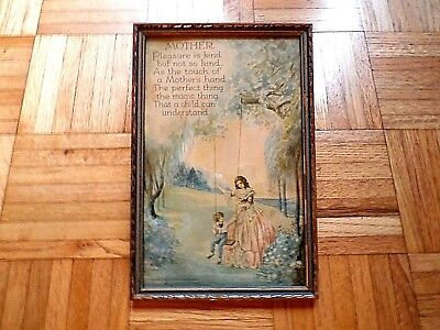 Vintage signed Marygold print A poem to a Mother