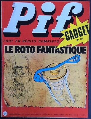 PIF Gadget no.219 (Vaillant No.1457) may 1973 Good condition without Gadget
