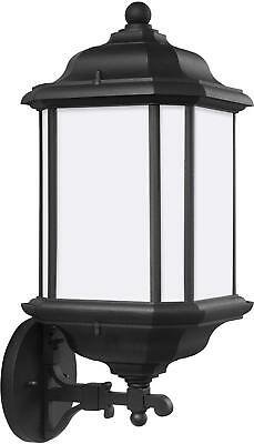 Sea Gull Lighting 84532EN3-12 Kent LED One-Light Outdoor Wall Lantern, Black