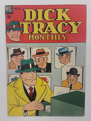 Dick Tracy #15 (Fn- 5.5) 1949 Golden Age! Dell Publishing