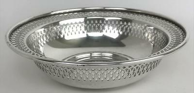 Vintage Manchester Silver Co 925 Sterling Silver Pierced BonBon Candy Bowl Dish