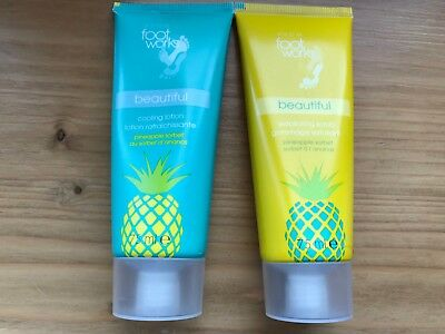 d2fd2ced5a6 AVON Foot Works Pineapple sorbet Cooling Lotion & Exfoliating Scrub 2 X 75ml