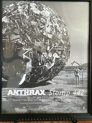 Anthrax-Stomp 442-Rare Promotional Only Ad-Framed-Beautiful Shape-1995!!