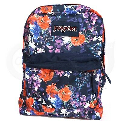 f6870d4c73 JanSport Superbreak T501 Backpack MorningBloom Flower big hiking student bag  New