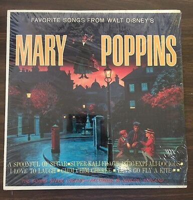 "Rare Vintage Walt Disney's ""Mary Poppins"" Hit Songs Album New Sealed Mint Cond."