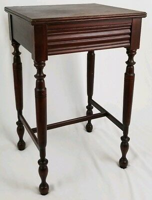 Vintage fire mahogany nightstand candle stand Grand Rapids Estey furniture