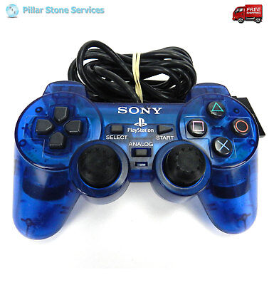 Sony PlayStation PS2 Dual Shock Analog Official Controller OEM SCPH-10010 Blue