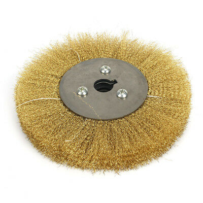 8'' Pure Copper Wire Wheel Brass Brush Center Hole 32mm Bench Grinder Polishing