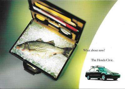 Lot of 2: HONDA CIVIC ADVERTISING POSTCARDS - mint condition