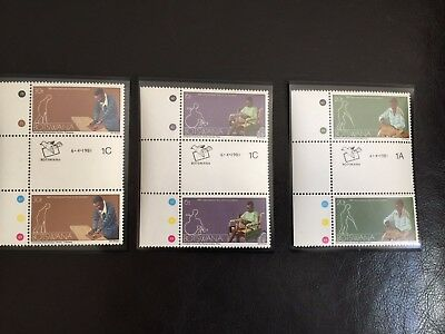 3 Gutter Pairs BOTSWANA MNH/MINT STAMPS INTERNATIONAL YEAR OF THE DISABLED 1981