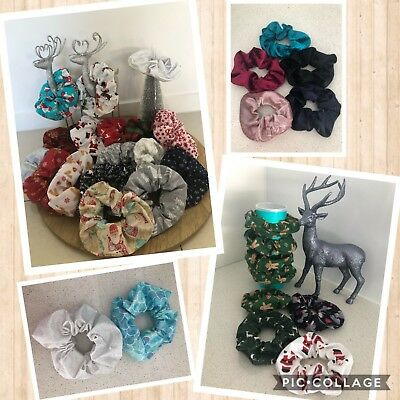 Scrunchies - Hair Accessories, Christmas, Velvet Or Custom Made, Hand Made