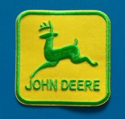 JOHN DEERE AGRICULTURE ADVERTISING  Easy Iron/Sew On TRACTOR Patch FREE SHIP