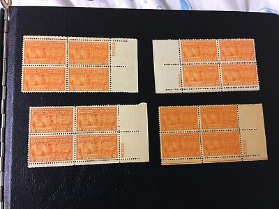 SCOTT E16, 15C STAMP MOTORCYCLE DELIVERY PLATE BLOCK OF 4 MNH 4 items..great
