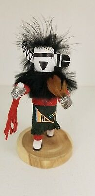 Authentic Handmade Sm ZUNI RAIN PRIEST Kachina Doll Signed By Artest M W Begay