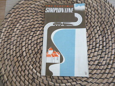 Vintage Railway memorabila  Switzerland  Electric Simplon Line    booklet