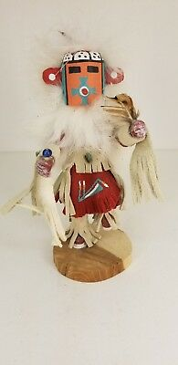 Authentic Navajo Handmade Sm SPOTTED CORN Kachina Doll Signed By Artest Yazzie