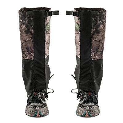 1 Pair Waterproof Outdoor Hiking Walking Climbing Snow Leg Stilt Boots Gaiters