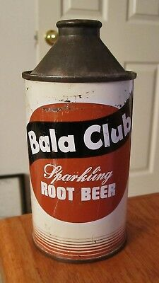 ~BALA CLUB Sparkling ROOT BEER~ Cone Top Soda Cola Can   ~NICE LOOKING~