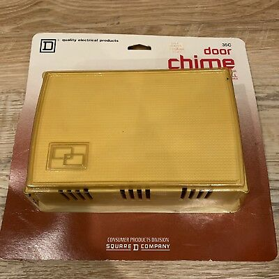 Vintage 1983 Square D Door Bell Chime New NOS Model 35C Still in Packaging