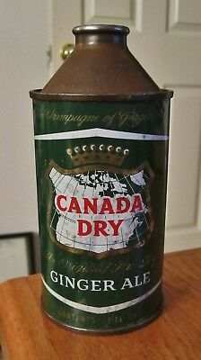 ~CANADA DRY GINGER ALE~ Cone Top Soda Cola Can   ~NICE LOOKING~