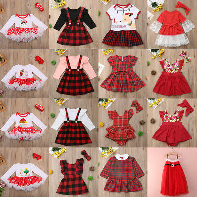 AU Canis Toddler Kids Baby Girls Christmas Princess Party Dress Outfits Clothes