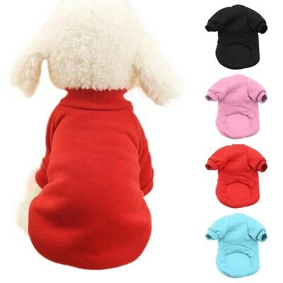 Pet Dog Cat Puppy Winter Warm Sweater Shirt Clothes Costume Jacket Coat Apparel