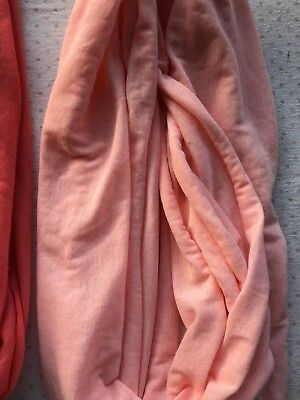 Solid Color Light Weight Thin Infinity Scarf LOT OF 2 Circle Loop Fashion PINK