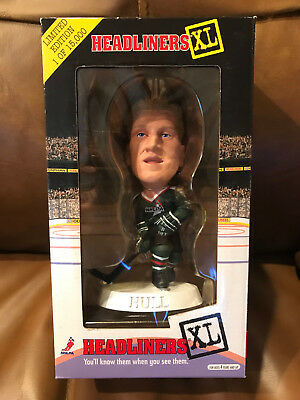 Brett Hull Headliners XL Figure Hockey NHLPA NIB Blues Stars Red Wings Flames