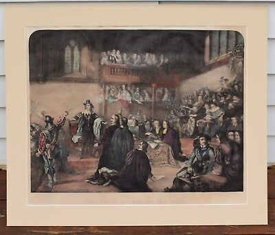 """Charles Edward Wagstaff  """"The Trial Of Charles The First"""" Engraving - Circa 1846"""