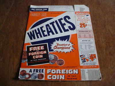 Wheaties Cereal Box Foreign Coins Offer 1940's Or 50's Complete