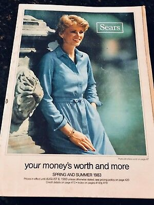 Vintage 1983 Sears Spring and Summer Catalouge Very Good Condition