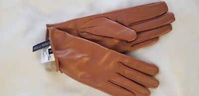 ADRIENNE VITTADINI 100% Leather and Cashmere Women Gloves