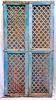 Mughal Jali Temple Door Wooden Neo Poly Chrome Indian Art Vintage Collectibles