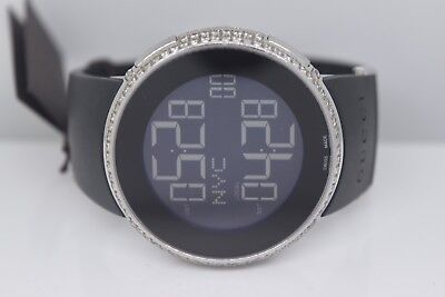 aa92b9b8bd8 New Men s I Gucci Full Case Diamond Ya114202 Black Digital Swiss watch