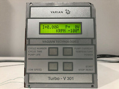 Varian Turbo-V 301 Rack CU Controller Unit 9699537S004
