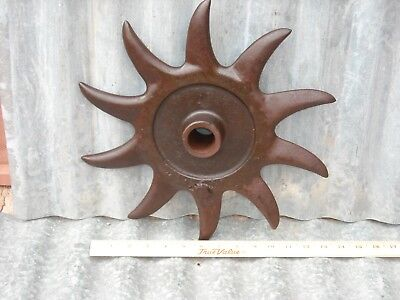 Antique Rotary Hoe/Cultivator Wheel Farm Garden Art