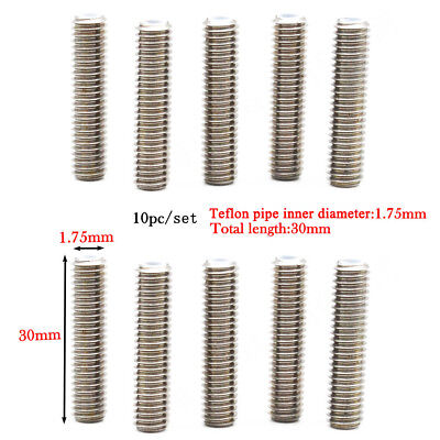 10pc 1.75mm/30mm Stainless Steel Nozzle Throat Tube for 3D Printer Extruder #ur