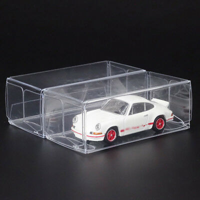 5/10/15/25pcs For 1:64 Model Car Toy Display Box Transparent Storage Holder Clea
