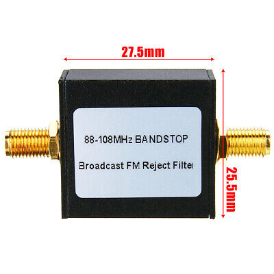 Broadcast FM Band Stop Filter (88-108 MHz FM Trap) by RTL-SDR Blog 50dB