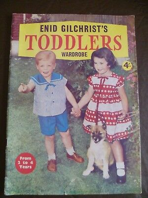 Vintage Enid Gilchrist Pattern Book Toddlers Wardrobe 2 to 4 yrs Sewing Drafting